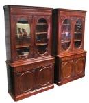 Rare pair of 19th century mahogany Irish bookcases at Hegartys A