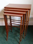 Lot 149: Nest of four mahogany and satinwood inlaid tables est. €500/700