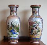 Lot 155: Pair of porcelain vases  est. €150/250