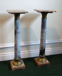 Lot 195: Early 20th century pair of marble columns est. €800/1200