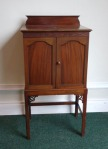 Lot 197: Two door music cabinet on stand est. €200/300