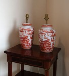 Lot 211: Pair of Chinese porcelain lamps est. €200/300