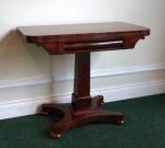 Lot 25: William IV mahogany card table  est. €700/900