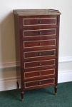 Lot 268: Early 20th century mahogany seven drawer chest, of particularly neat proportions est. €400/600