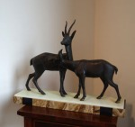 Lot 27: Sculpture of antelopes in the Art Deco style est. €300/600