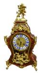 Lot 35: 19th century Parisian boulle bracket clock, of exceptional quality, having porcelain enamelled dial and wonderfully gilded porcelain mounts  est. €3000/5000
