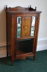 Lot 57: Early 20th century rosewood and satinwood marquetry inlaid music cabinet  est. €600/900