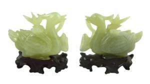 Pair of fine jade Mandarin ducks est. €1500/2000