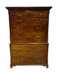 Irish18th century George II secretaire tallboy