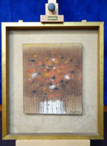 """Patrick Scott, (1921-2014), Bog Flowers, Oil on Canvas, Signed & Dated Lower Right, 10"""" x 12"""" Approx Hammer Price €2300"""