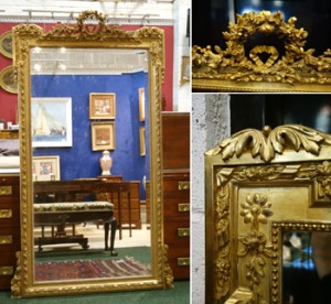 "Lot 68: A Late 19th Century, French, Giltwood, Pier Mirror, with Floral Garland Decoration, 38""x71"" Approx (WxH) est. €2000/3000"