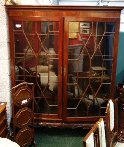 An Irish, 19th Century, Floor Bookcase, on a Stand, with Astragal Glazed Doors - Price Realised €2700