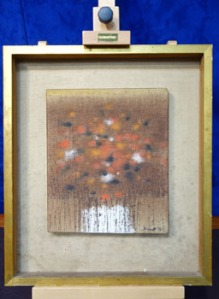 "Patrick Scott, (1921-2014), Bog Flowers, Oil on Canvas, Signed & Dated Lower Right, 10"" x 12"" Approx - Price Realised €2300"