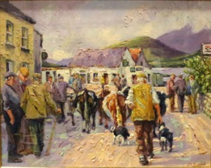 "Lot 66: J.S. BROHAN, B.1952, ""LEENANE, CONNEMARA"", Oil on canvas, signed lower right, inscribed with title verso, 38""x32.75"" approx (frame)"